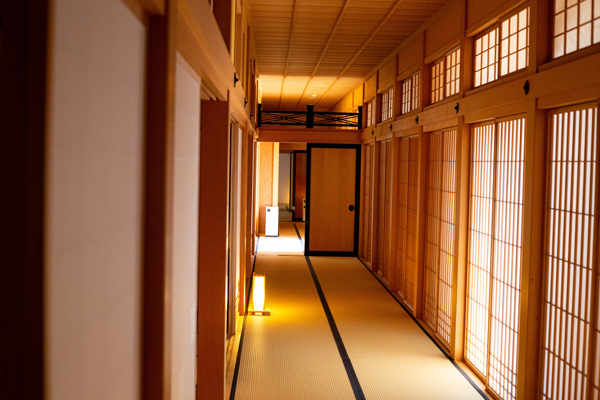 Japanese shoji paper doors letting in the daylight